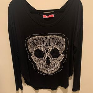 Lace Skull Long-sleeve top